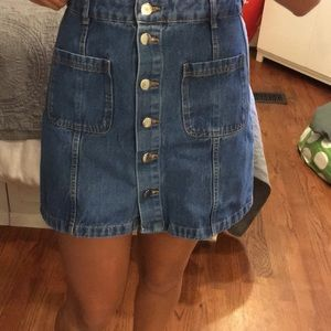 Button down jean skirt
